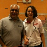 Emily Witts with her coach Girish Ravat